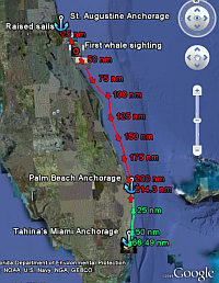 Map of Passage - St. Augustine to Miami
