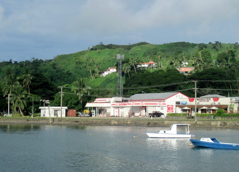 Part of Savusavu as seen from Tahina