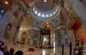 Wide angle St. Peter's Basilica
