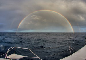 Full Rainbow at Sea