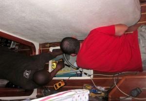 Workers in the bilge